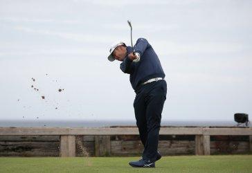 Hideki Matsuyama on the 1st day of the Open Championship at Royal Portrush