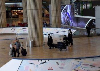 Travelers Arrive To Israel In Ben Gurion Airport