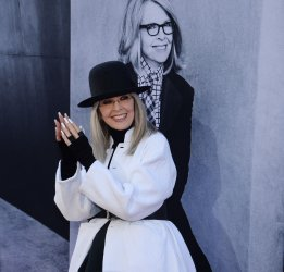 Honoree Diane Keaton arrives for AFI's Life Achievement tribute gala in Los Angeles