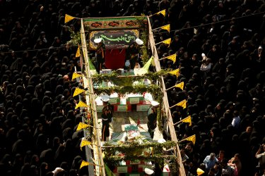 Funeral Ceremony of 65 people that were killed during the 8-year Iran-Iraq war in Tehran