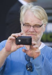 "Philip Seymour Hoffman arrives at the premiere of ""Moneyball"" in Oakland, California"