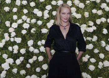 Uma Thurman attends the 71st Annual Tony Awards