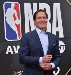 Mark Cuban attends the 2019 NBA Awards in Santa, Monica, California