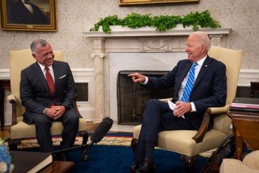 Joe Biden Meets with King Abdullah II in Washington