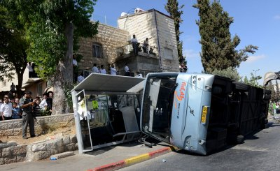 Israeli Bus Flipped By Palestinian In Jerusalem Terror Attack