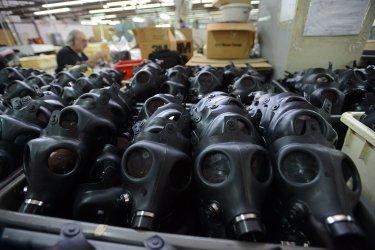Israeli Factory Makes Gas Masks