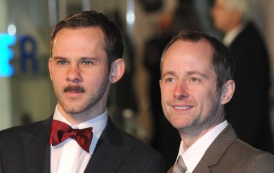 "Dominic Monaghan and Billy Boyd attend The UK premiere of ""The Hobbit: An Unexpected Journey"" in London."
