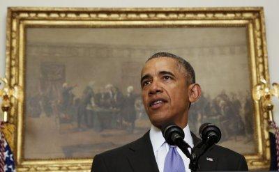 US President Barack Obama delivers a statement on Iran