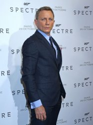 """Daniel Craig arrives at the French premiere of """"Spectre"""" in Paris"""