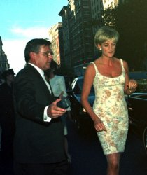 diana,princess of wales, attends chairty auction of her dresses at christies