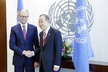 Prime Minister of Ukraine H.E. Mr. Arseniy Yatsenyuk at the  UN