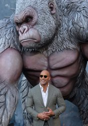 """Dwayne Johnson attends the """"Rampage"""" premiere in Los Angeles"""