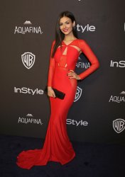 Victoria Justice attends the InStyle and Warner Bros. Golden Globe after-party in Beverly Hills