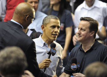 Obama and Cameron interviewed at NCAA Tournament in Dayton, Ohio