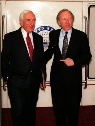 Sen. Joseph Lieberman and Sen. Frank Lautenberg