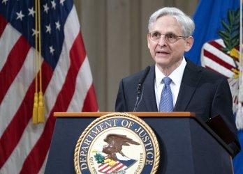 Attorney General Merrick Garland address staff at the DOJ in Washington, DC