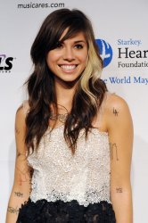Christina Perri arrives at MusiCares Person of the Year tribute in Los Angeles