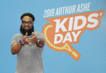 Blanco Brown at the 2019 Arthur Ashe Kids day at the US Open