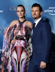 """Cara Delevingne and Orlando Bloom attend the """"Carnival Row"""" premiere in Los Angeles"""