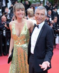 Nagui Fam and Melanie Page attend the Cannes Film Festival