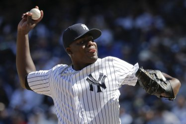 Yankees Michael Pineda throws pitch against Tampa Bay Rays