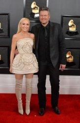 Gwen Stefani and Blake Shelton arrive for the 62nd annual Grammy Awards in Los Angeles