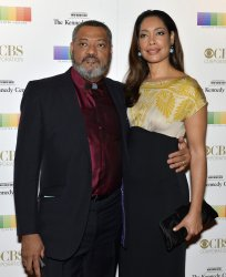 Lawrence Fishburne and wife Gina Torresl arrive for Kennedy Center Honors Gala in Washington DC