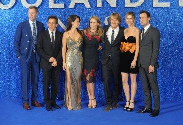 "Will Ferrell, Ben Stiller, Penelope Cruz, Christine Taylor, Owen Wilson, Kristen Wiig and Justin Theroux attend the UK Premiere of ""Zoolander 2"" in London"