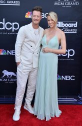 Tyler Hubbard and Hayley Stommel Hubbard attend the 2019 Billboard Music Awards in Las Vegas