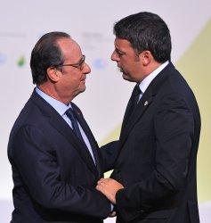 Matteo Renzi Arrives at Opening of UN Climate Summit Near Paris