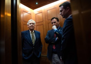 Senate Majority Leader McConnell on Capitol Hill