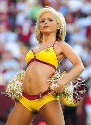 A Redskins' cheerleader in Washington
