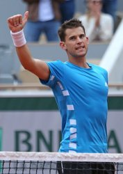 Dominic Thiem plays his men's second round match at the French Open