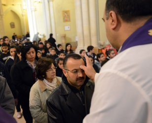 Palestinians Observe Ash Wednesday