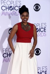 Jerrika Hinton attends the 42nd annual People's Choice Awards in Los Angeles