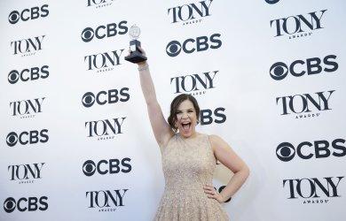 Lindsay Mendez arrives at the Tony Awards