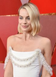 Margot Robbie arrives for the 90th annual Academy Awards in Hollywood
