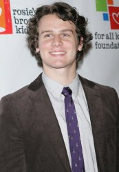 Jonathan Groff arrives for Rosie's Broadway Extravaganza in New York