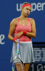 Victoria Azarenka vs Dinah Pfizenmaier at the U.S. Open in New York