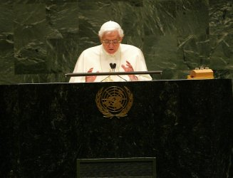Pope Benedict XVI at the United Nations in New York