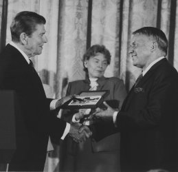 President Reagan Presents Frank Sinatra the Presidential Medal of Freedom