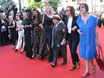 Women filmmakers protest at the Cannes Film Festival