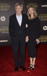 "Harrison Ford and Calista Flockhart attend the premiere of ""Star Wars: The Force Awakens"" in Hollywood"