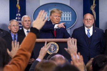President Trump speaks on the Coronavirus at the White House