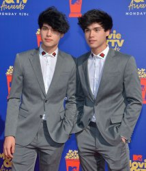 Alan Stokes and Alex Stokes attend the MTV Movie & TV Awards in Santa Monica, California