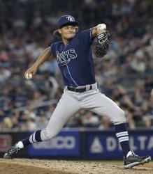 Tampa Bay Rays Chris Archer at Yankee Stadium