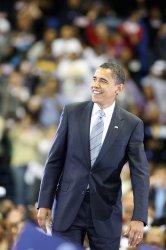 Democratic presidential candidate Barack Obama campains in Fayetteville, North Carolina