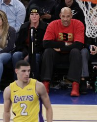 LaVar Ball watches son Los Angeles Lakers Lonzo Ball