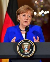 President Trump meets with German Chancellor Merkel in Washington