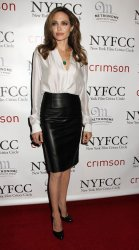 Angelina Jolie arrives for the New York Film Critics Circle Awards in New York